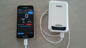 Smartphone mit Zusatzakku