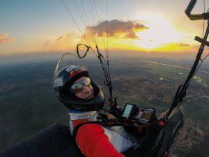 Brasil 2016 - Lex im Endanflug über dem 440km entfernten Miguel Alves