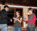 Siegerehrung der Sportklasse durch Julia Hansel (Brandlehner)